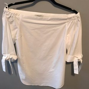 Babaton White off the shoulder